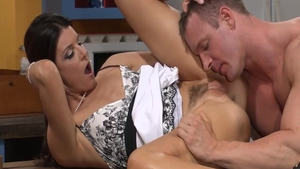 Summer Sweet wearing panties with India Summer pussy fuck