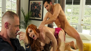 Hard ramming escorted by large boobs redhead Lauren Phillips