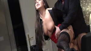Large boobs in stockings pounded by Denis Reed