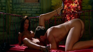 Nessa Devil escorted by Kristal Summers fantasy cumshot
