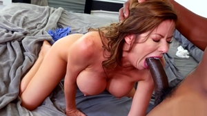 Ass fuck in company with brunette Alexis Fawx