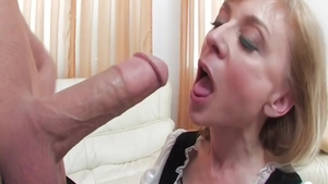 Super sexy blonde hair Nina Hartley raw got her pussy smashed