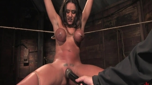 Charley Chase fetish roped video