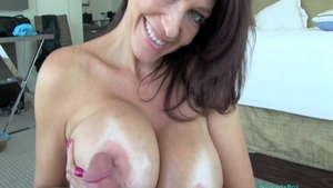 Charlee Chase receiving facial cum loads