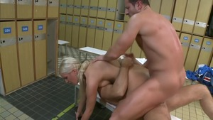 Bald european blonde close up double penetration HD