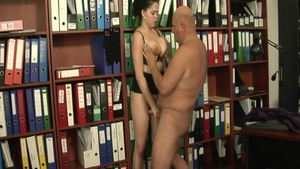 Huge tits Shione Cooper in office