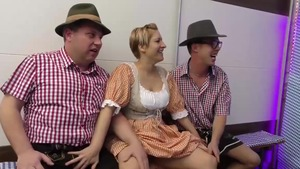Shaved german brunette extreme rimming in HD
