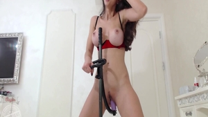 Solo very kinky & busty babe playing with sex toys