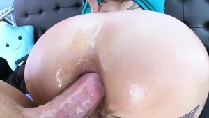 Huge tits redhead likes plowing hard in lingerie