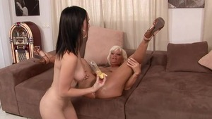 Hard pounding in the company of MILF