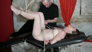 Bondage escorted by french housewife