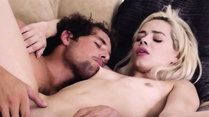 Sex in company with petite blonde hair