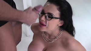 Hard pounding starring large boobs brunette