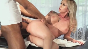 Small tits ebony cougar wishes fucking in HD