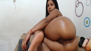 Playing with toys big booty latina