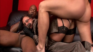 Gangbang escorted by passionate mature Emma Butt