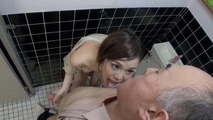 Erotic asian pussy fucking in toilet
