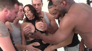 Big tits brunette Alexis Fawx rushes pussy fucking in HD