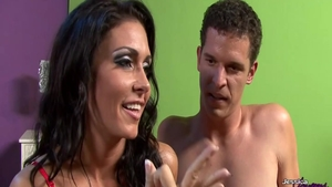 Nailed rough together with large boobs amateur Jessica Jaymes
