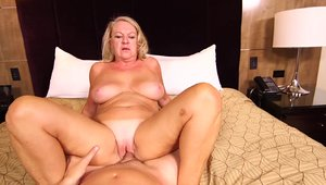 POV good fuck in the company of busty cougar