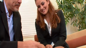 Young Allie Haze smashed by big cock guy