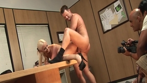 Hardcore hard pounding in company with Brooke Haven