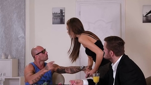 Tina Kay with Mike Angelo groped