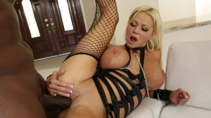 Hard pounding along with busty mature Lexington Steele