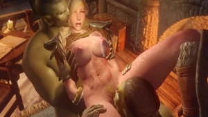 Pussy sex in company with busty