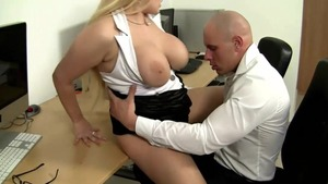 Busty jumping on cock