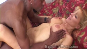 Hard fucking in company with shaved MILF Nicole Moore