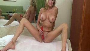 Very hawt and large tits GILF POV cock sucking