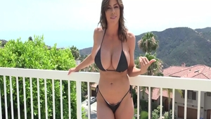 Raw nailing in company with horny brunette Alexis Fawx