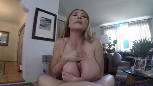 Cum in mouth next to large boobs british amateur