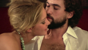 Bisexual Lina Romay kissing each other