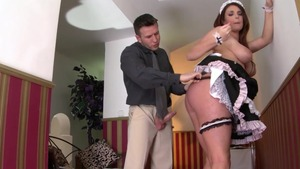 Busty maid gets plowed
