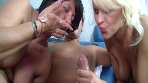 German stepmom rough threesome at the casting