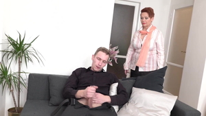 Hard ramming along with young amateur