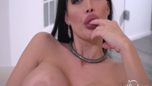 Charming brunette Aletta Ocean in lingerie pussy eating