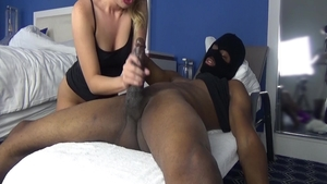Blowjob together with hawt blonde haired Harley Jade