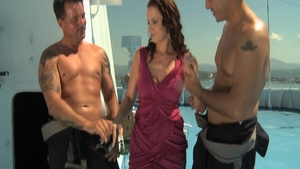 Orgy along with super sexy brunette Cindy Dollar