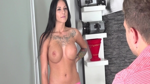 Aged czech MILF doggy fucks at the castings