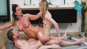 Nailing in company with busty ebony blonde babe Aj Applegate