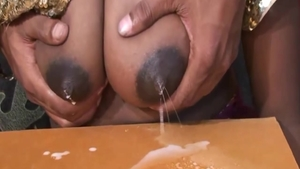Busty large boobs Arabic mature pussy eating