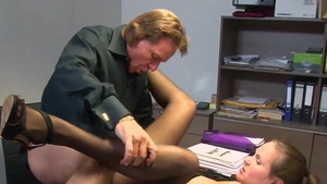 Cumshot in office
