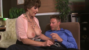 Large boobs Bea Cummins together with Levi Cash dick sucking
