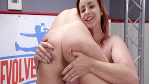 Hairy pussy and very kinky brunette strapon