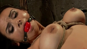 Ariel X in tight stockings hardcore BDSM at the party
