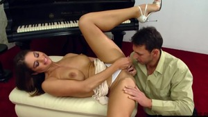 Busty teacher Cathy Heaven wishes facial
