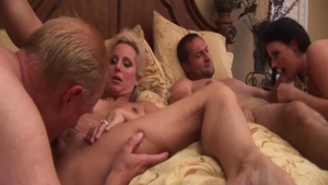 Busty swinger Sophie Dee wishes group sex